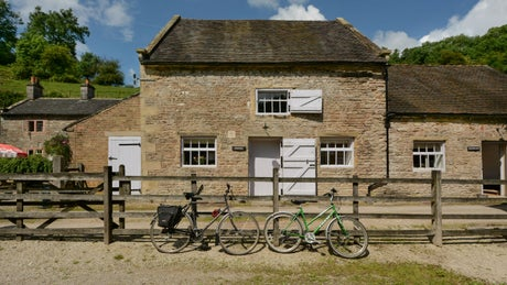 The pretty exterior of Wetton Mill White Peak, Ashbourne, Staffordshire