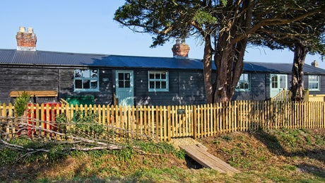 The exterior of Newtown Cabin, Isle of Wight