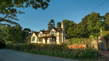 The exterior of Crabtree Lodge and School House, Devon