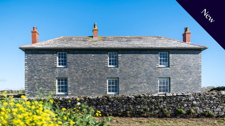 The exterior of Pentire Farmhouse and Pengirt, Cornwall