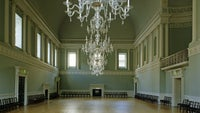 The ballroom at The Bath Assembly Rooms