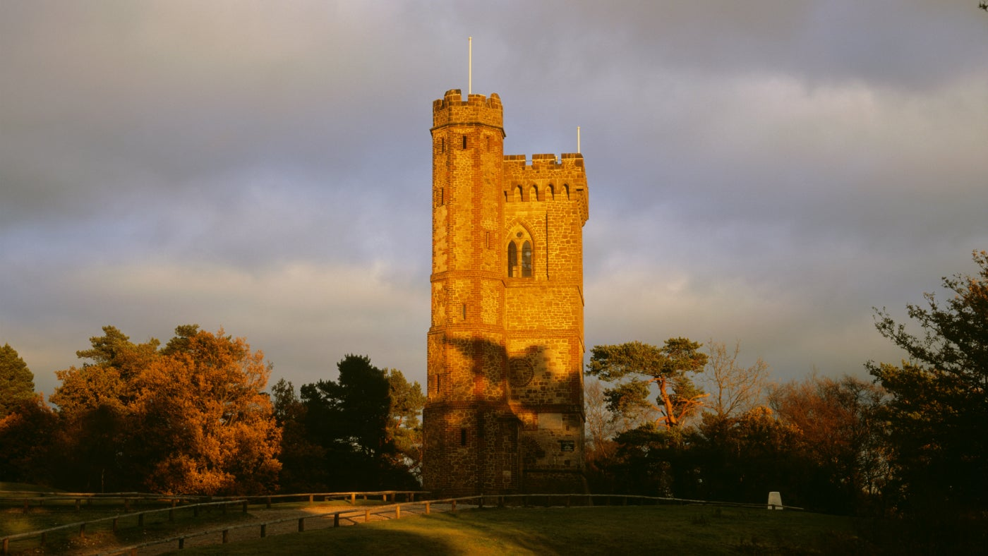 A view of the West Front of Leith Hill Tower, Dorking, Surrey