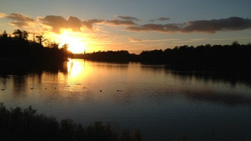 Sunrise at Clumber Park ford, Nottinghamshire