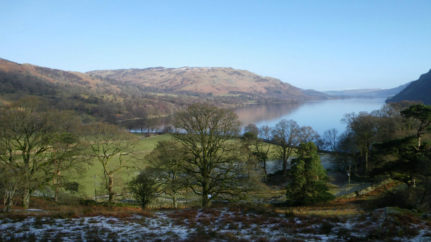 The view of Ullswater from Glencoyne