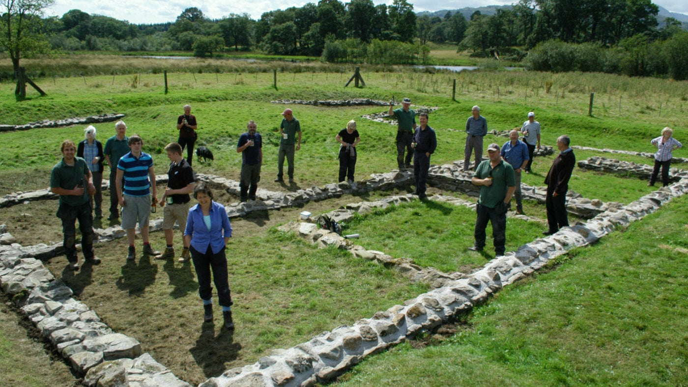 Volunteers at Ambleside Roman Fort