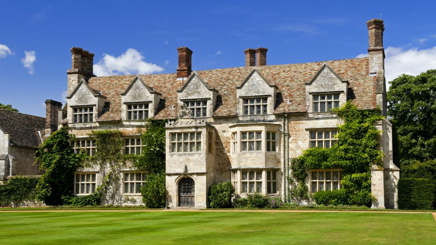 Front view of Anglesey Abbey