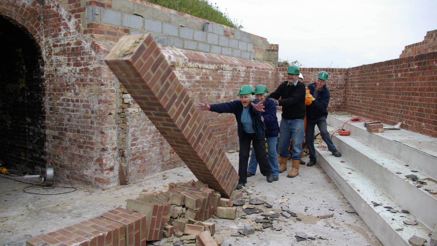 Volunteers at Bembridge Fort