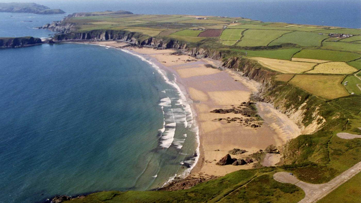 A bird's eye view of Marloes Sands
