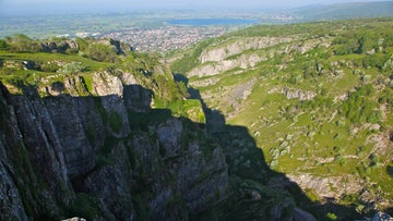 Cheddar Gorge, local landmark, Somerset