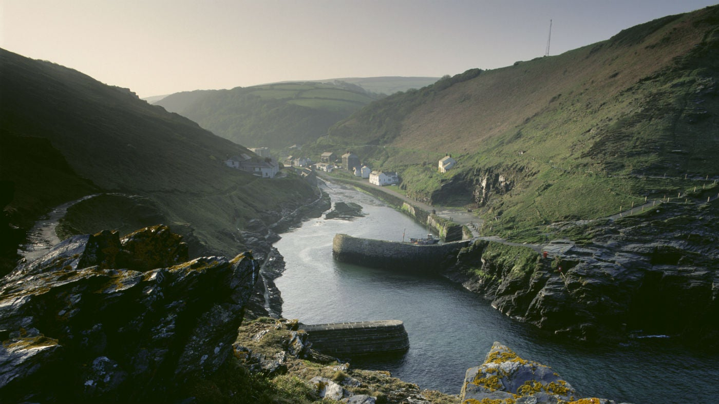 Boscastle Harbour is one of the few natural inlets in a tortuous stretch of coastline and led to its development as a port serving this remote part of Cornwall