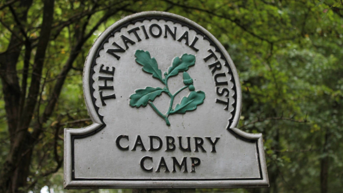 National Trust omega at Cadbury Camp