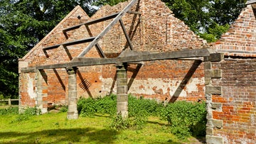 The preserved 18th-century deer shelter at Calke Abbey, Derbyshire