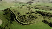 Aerial view of Cissbury Ring on the South Downs