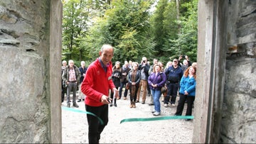 The ribbon is cut to open Claife Viewing Station, Cumbria