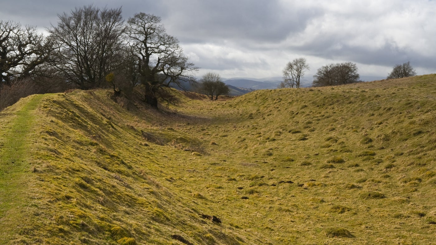 Spectacular hill fort at Croft Ambrey, Herefordshire