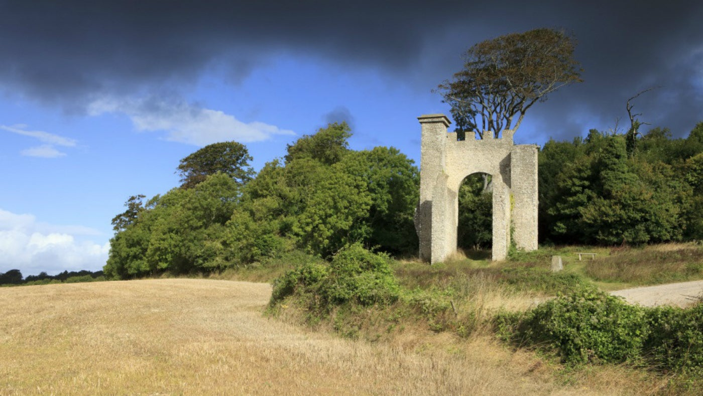Slindon folly, built in 1814 for the Countess of Newburgh's picnic parties