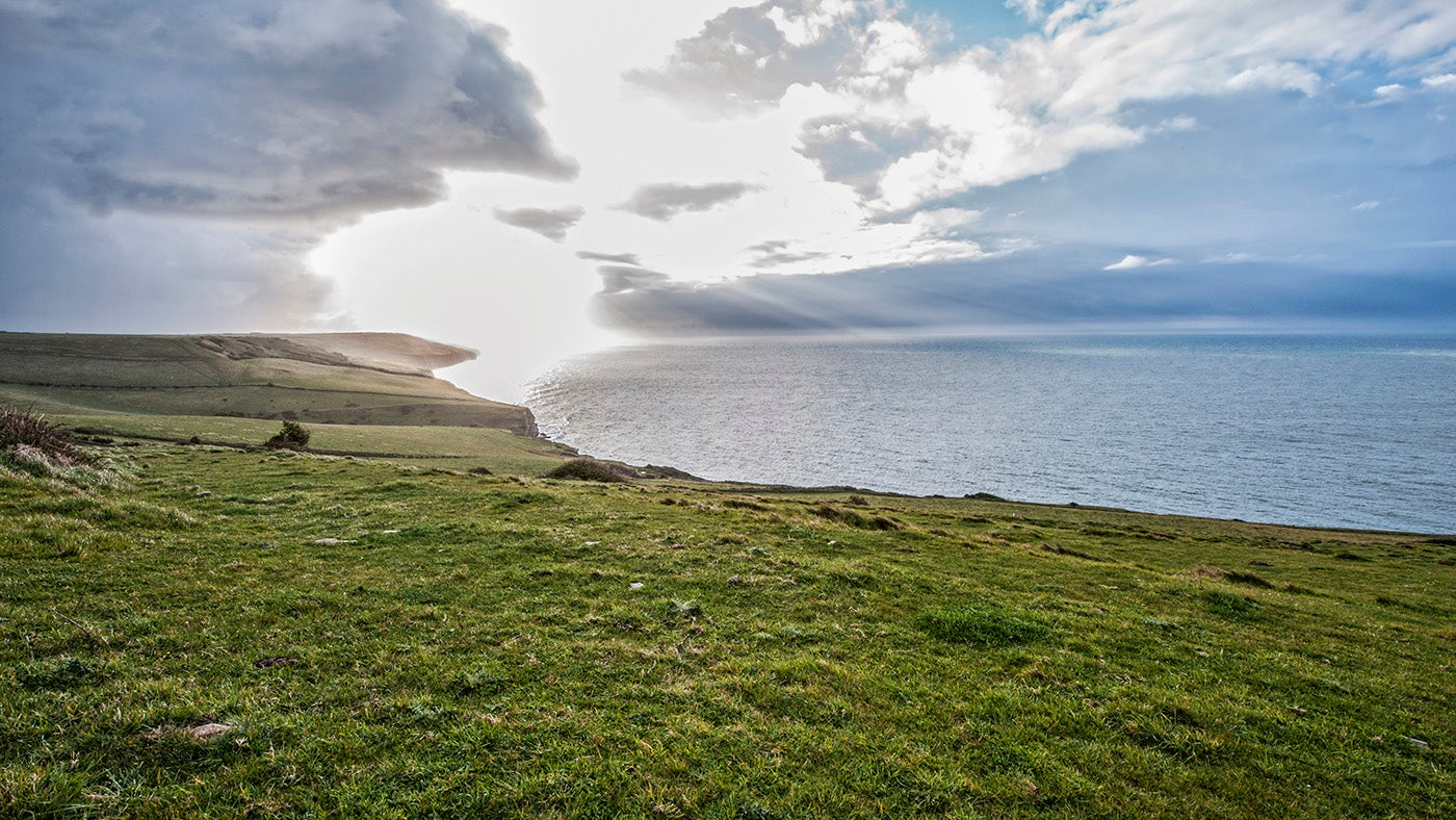 A view out to sea from the south Purbeck coast