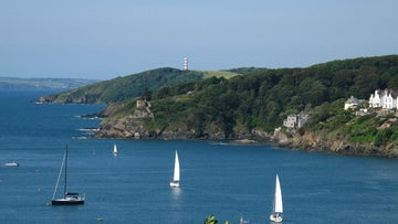 Sailing boats on the Fowey