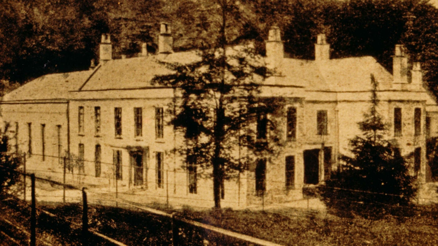 The house at Fyne Court in Somerset before the fire of 1894