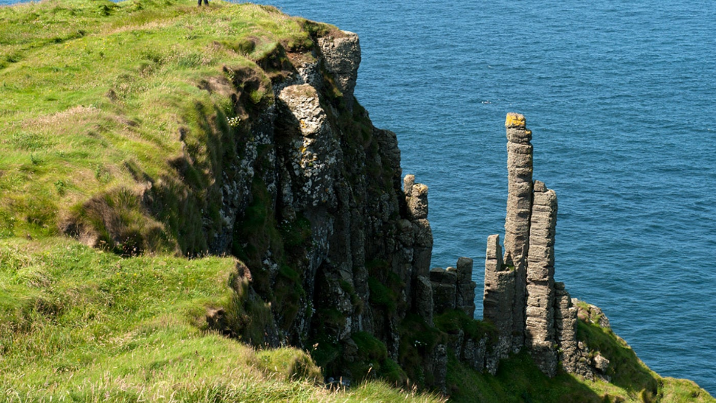 Chimney stacks at the Giant's Causeway, Co Antrim