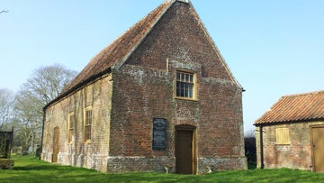 The outside of Monksthorpe Chapel on the Gunby Estate