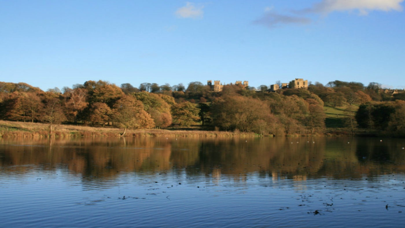View towards Hardwick Hall from Miller's pond