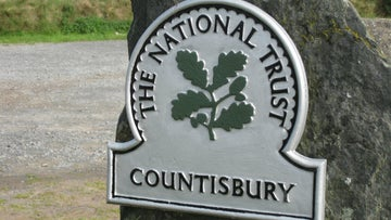 National Trust oak leaf sign showing the land that we care for