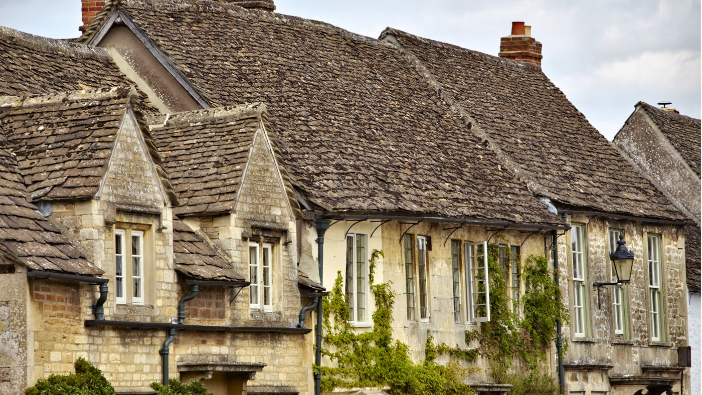 Houses in the village at Lacock, Wiltshire