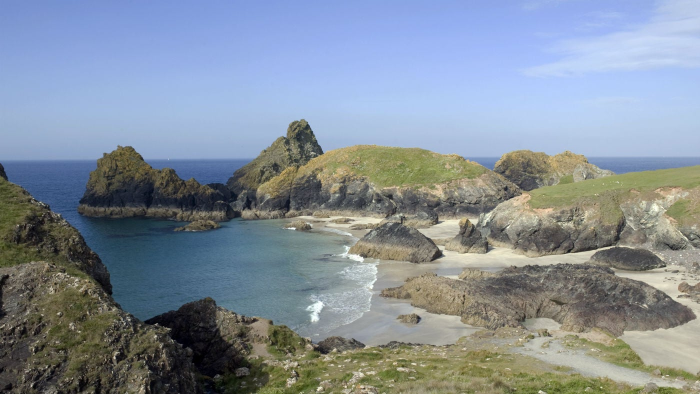 View of Kynance cove