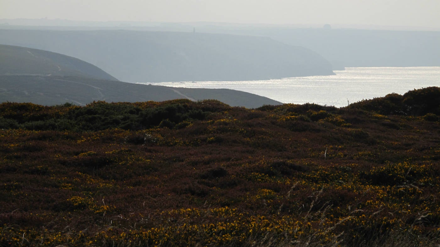 View over towards the sea from St Agnes