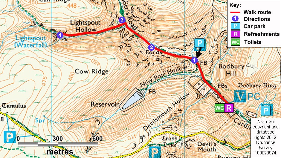 Carding Mill Valley Map A walk to the waterfall at Carding Mill Valley | National Trust