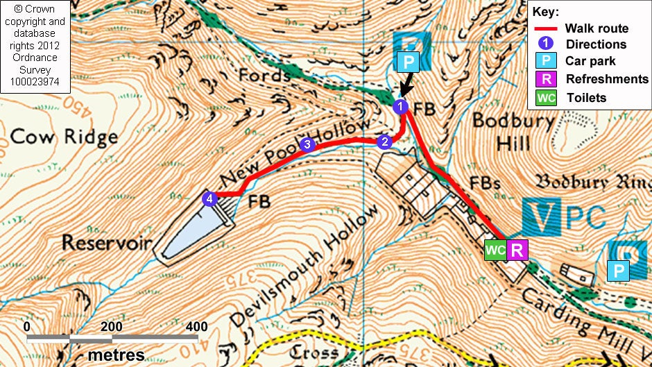 Carding Mill Valley Map A walk to the reservoir in Carding Mill Valley | National Trust