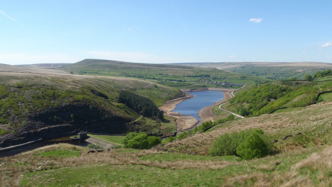 Butterley Reservoir and Pule Hill, Marsden Moor, West Yorkshire