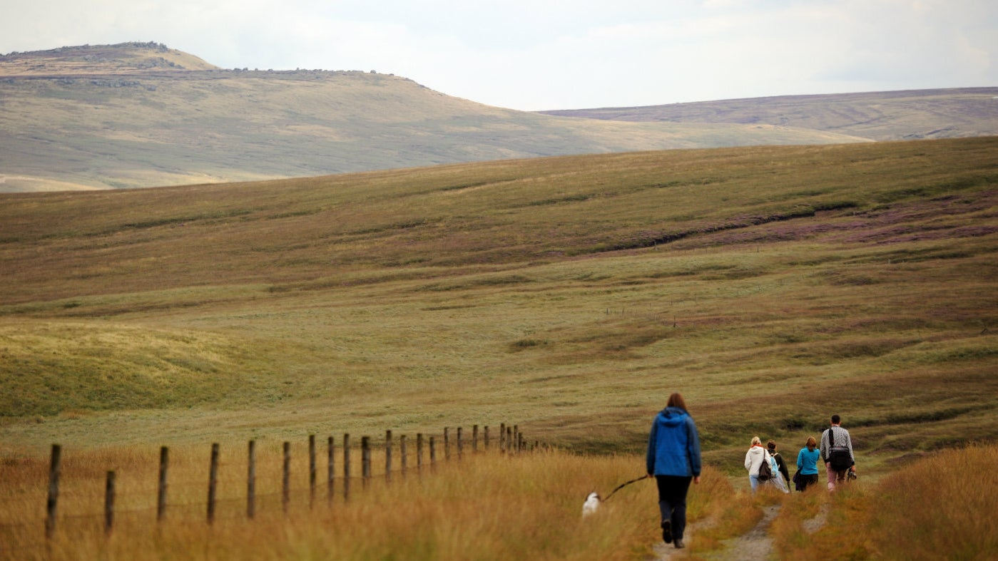 Walkers on Marsden Moor, West Yorkshire