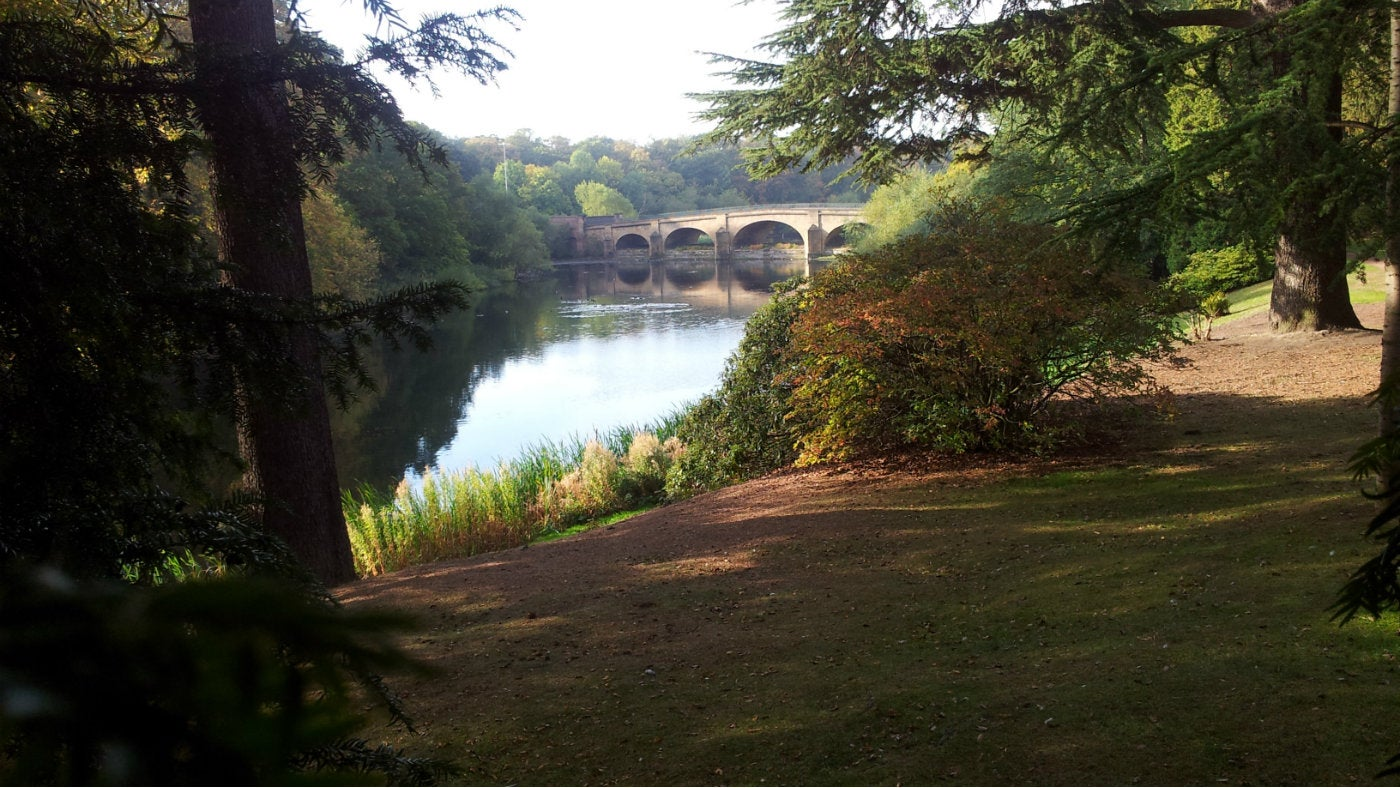 The gardens in autumn at Nostell Priory, West Yorkshire