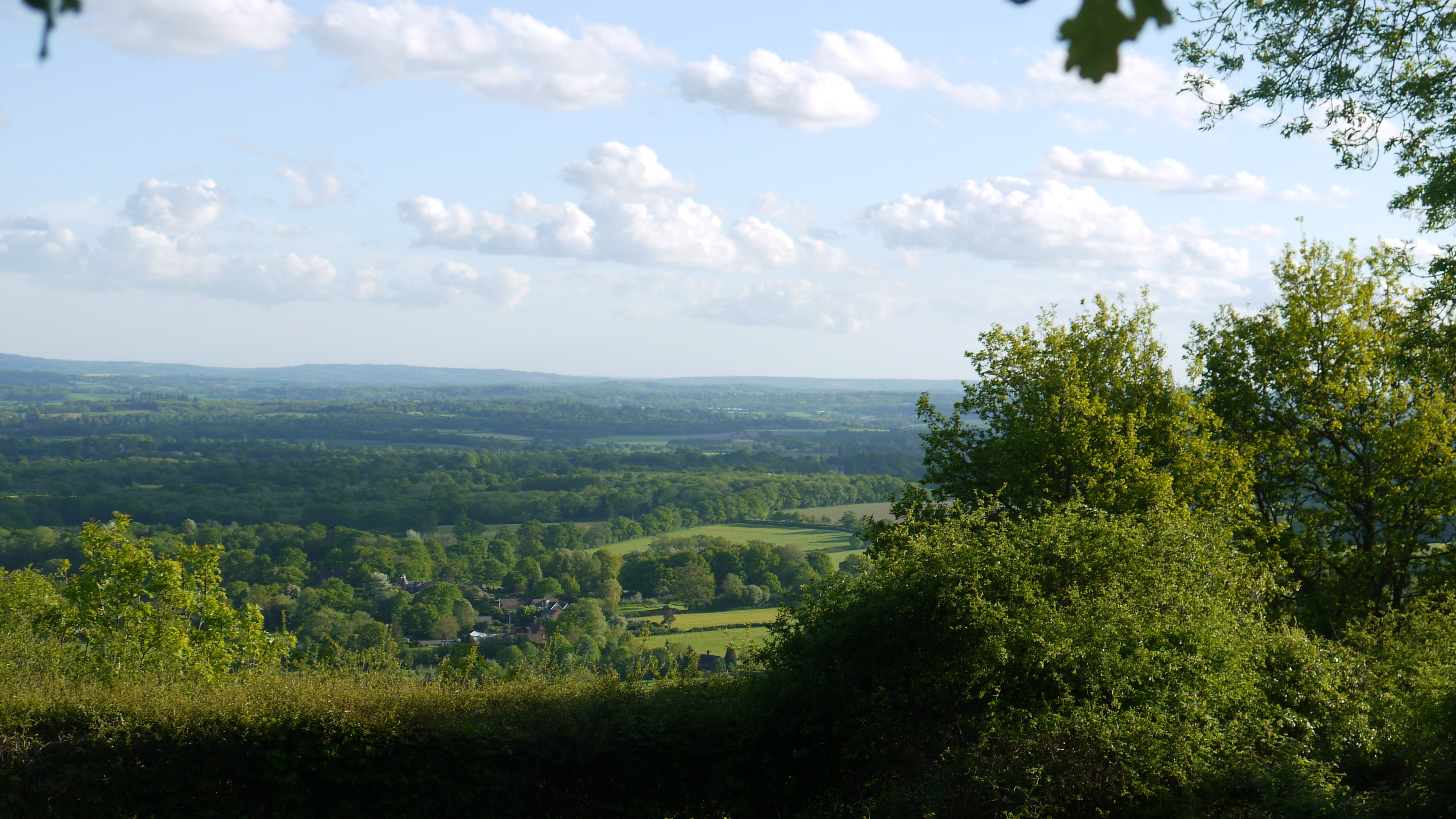 View from the top of One Tree Hill across the countryside