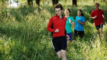 People running outdoors at Kingston Lacy
