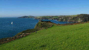 The view over to Pencarrow Head, Cornwall