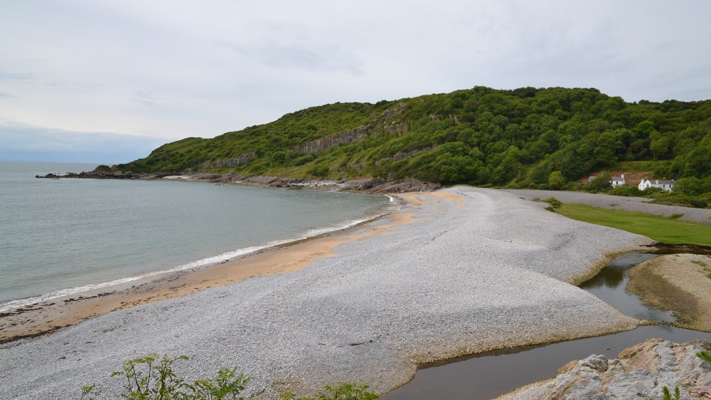 View over Pwll Du Bay