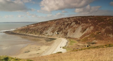 Secluded beach on the Carmarthenshire coast