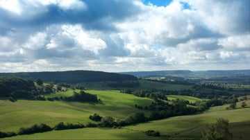 Haresfield Beacon, Cotswold escarpment, Gloucestershire