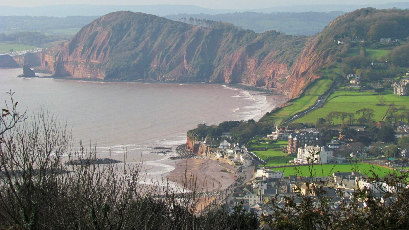 See Sidmouth from Salcombe Hill