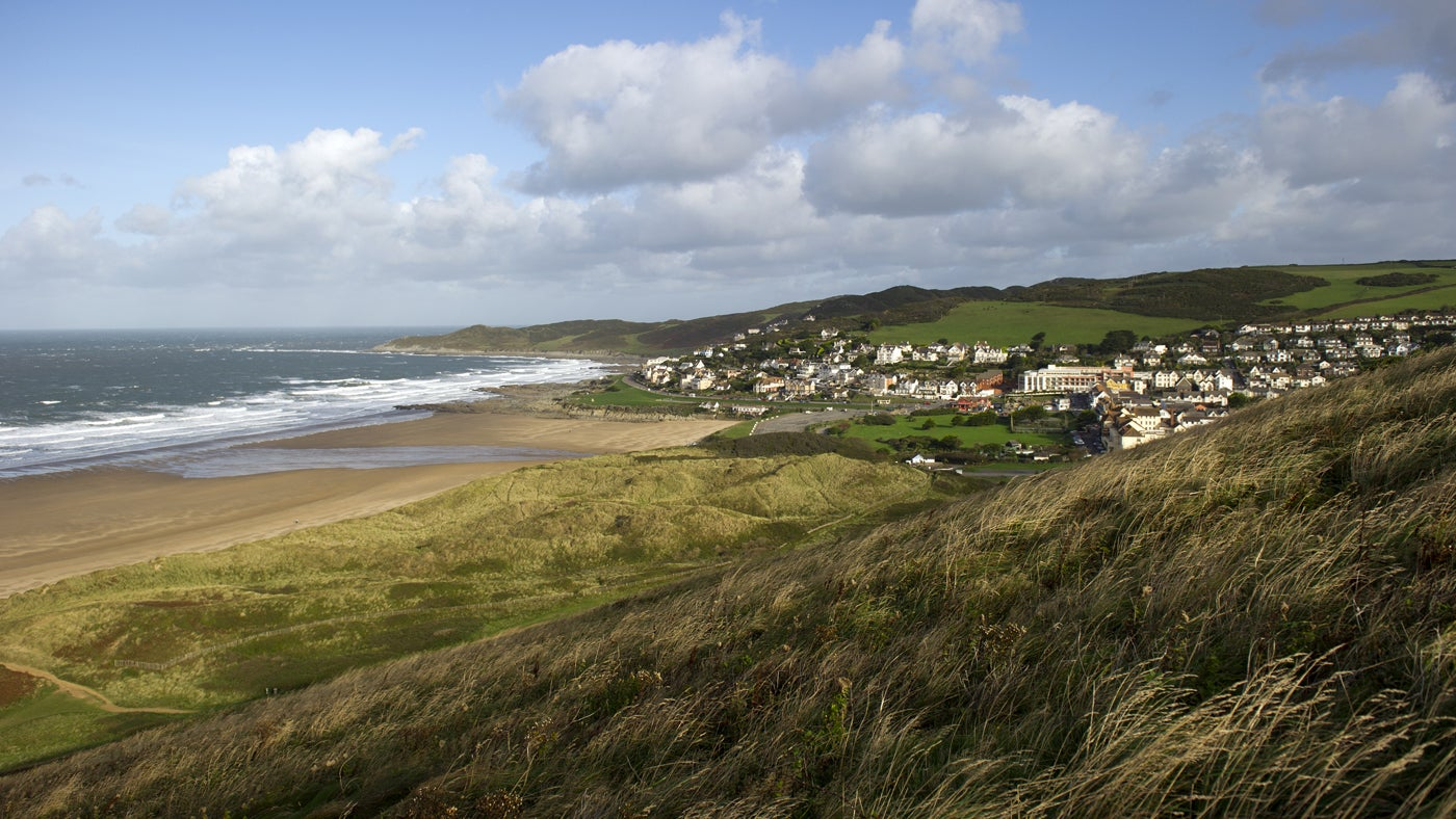 Sea view over Woolacombe, North Devon