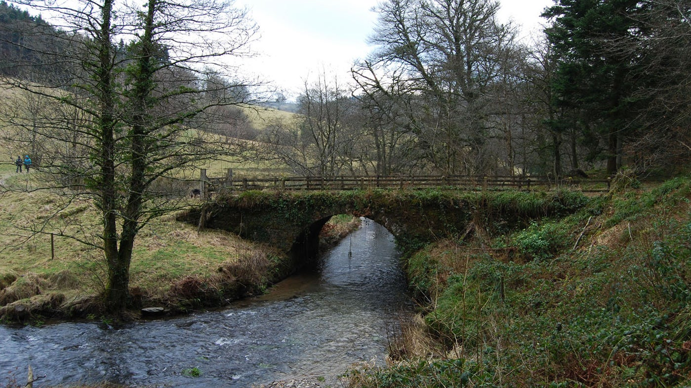 Smallacombe bridge over the River Yeo at Arlington Court