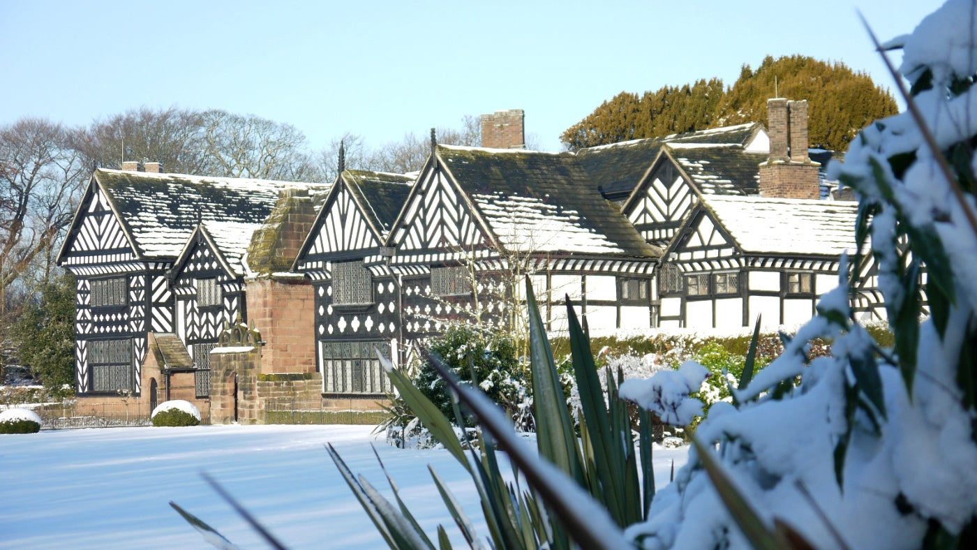 Speke Hall in the snow