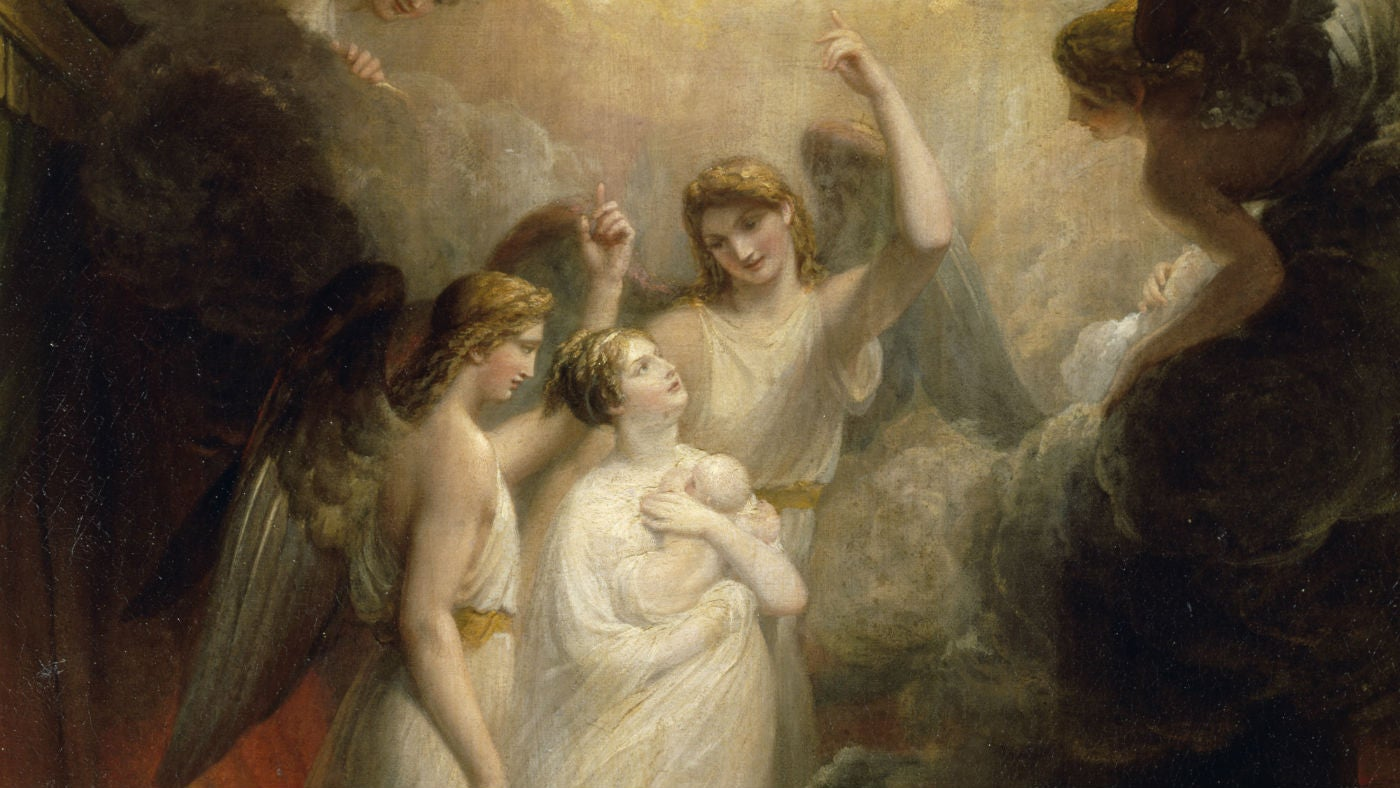 The Apotheosis of Princess Charlotte Augusta, Princess of Wales by Henry Howard, 1818