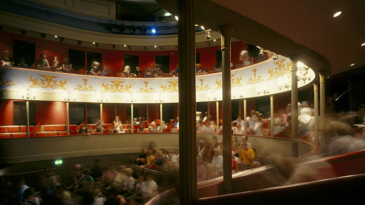 A busy auditorium at the Theatre Royal