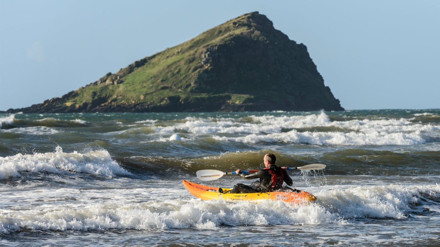 Kayakers at Wembury, Devon