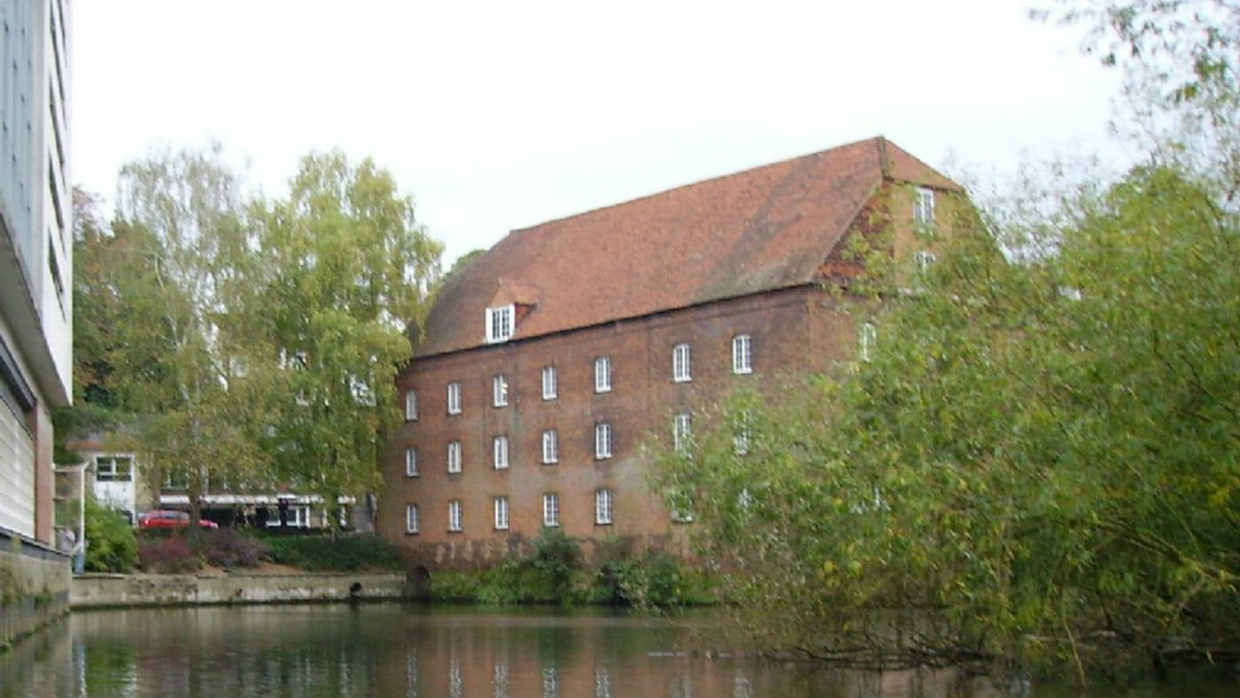 Town mill in Guildford from the river