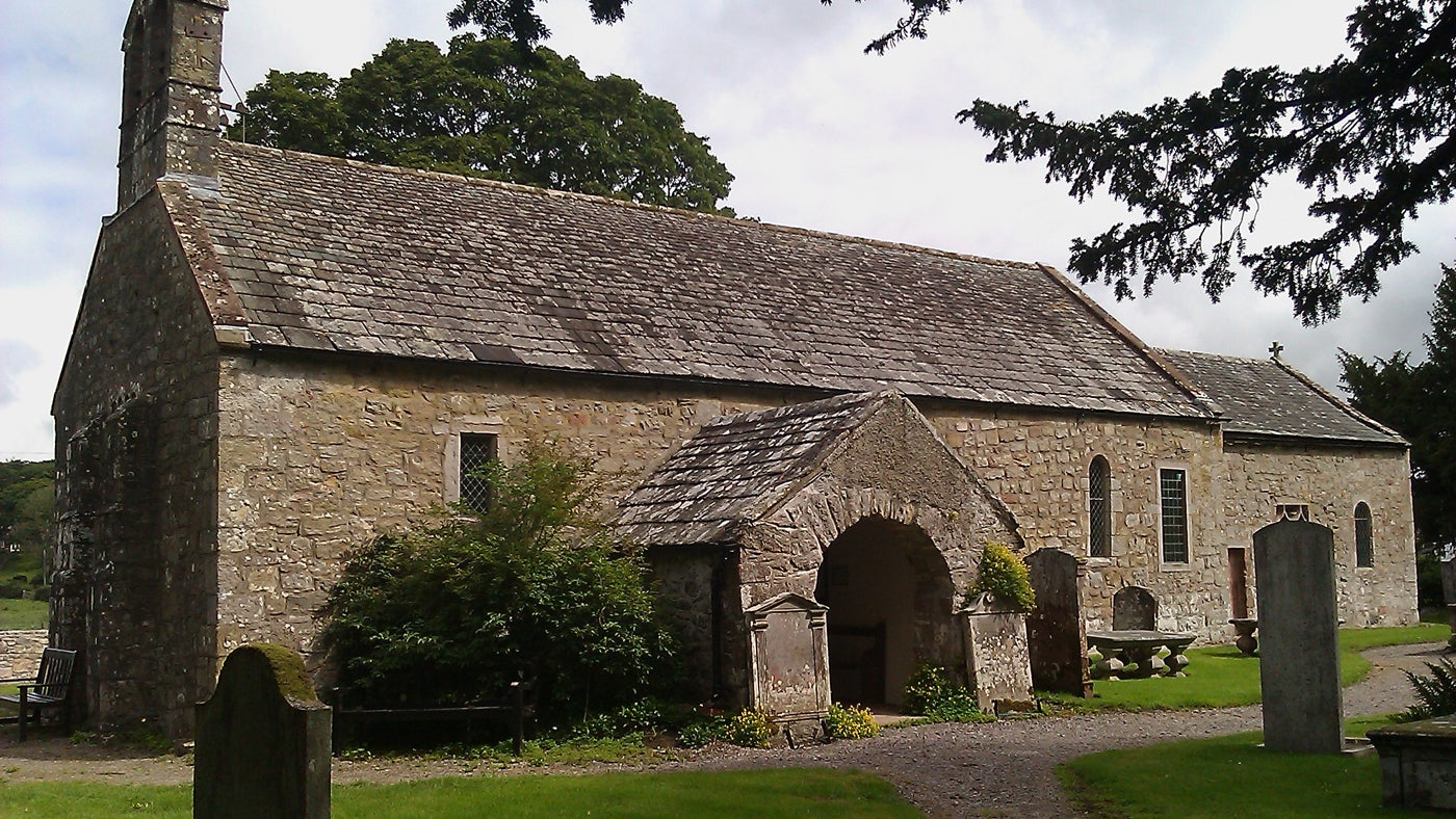 The 12th-century church in the hamlet of Isel, Cumbria